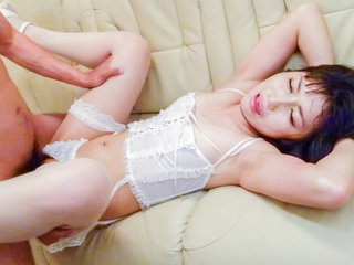 Lingerie model,Reo Saionji, caves for a wild group fuck
